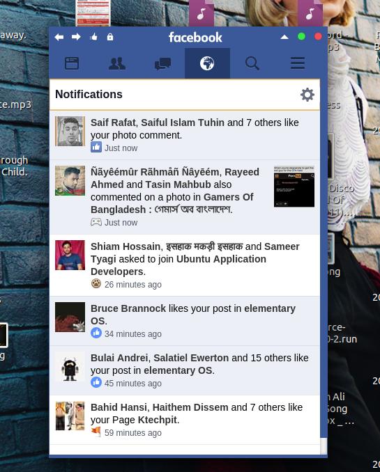 Facebook App for Ubuntu desktop demo