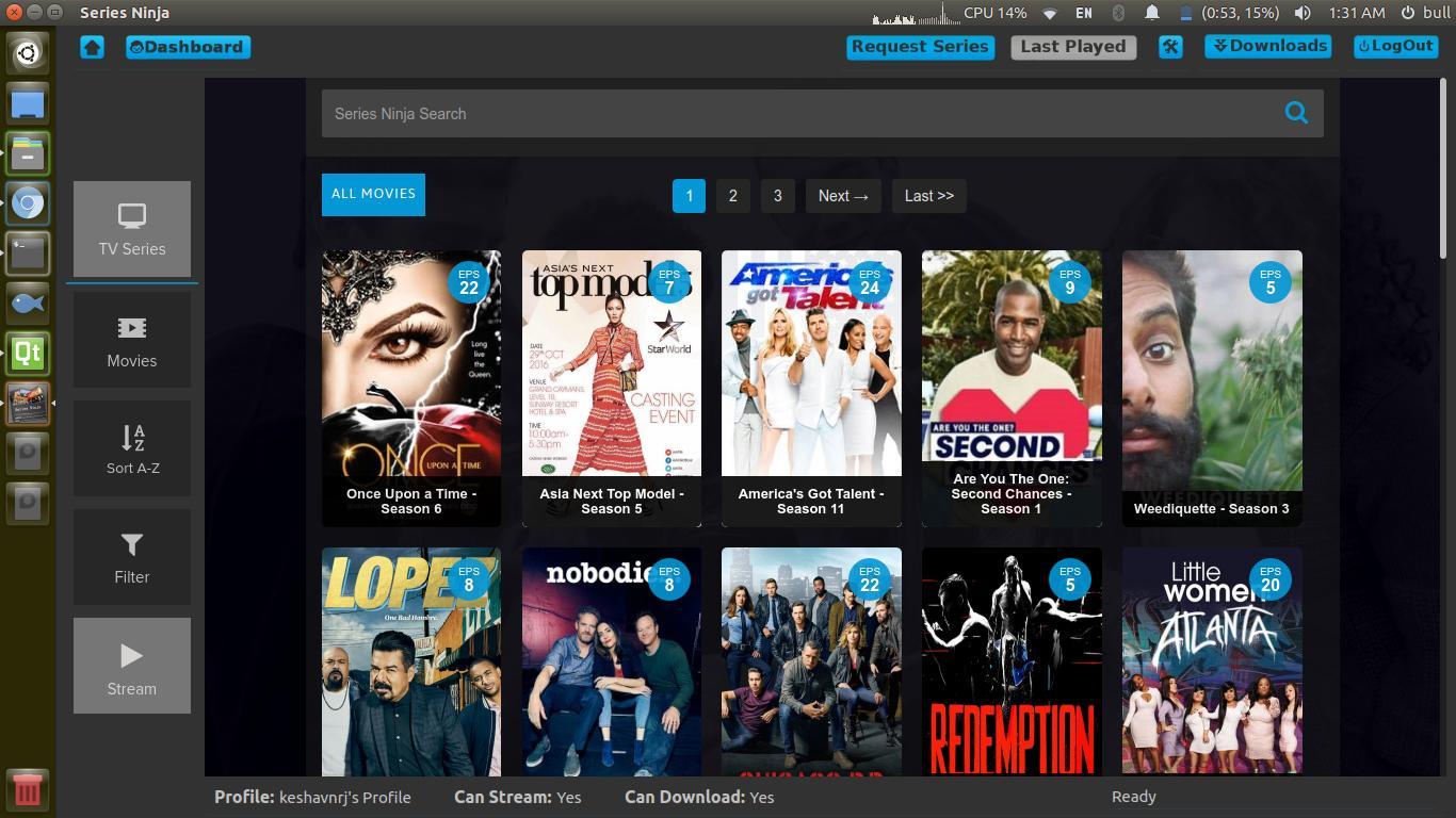 Tv Series App Series Ninja Released For Ubuntu Linux Ktechpit